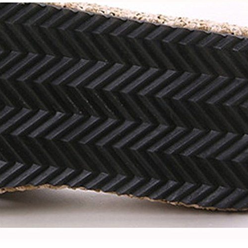 Negro Tacones Playa Tamaño UK6 Beige de Bohemia Altos de CN39 Zapatillas del Color Zapatos Sandalias Las EU39 Verano Antideslizante Romanas Alto Feifei Clip Casual Tacón 9cm de Mujeres Punta Playa C1qSx54