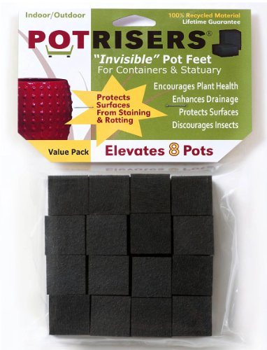 Cheap Potrisers PR32 Invisible Pot Feet Black, 32 pack supports 8-10 pots or statuary