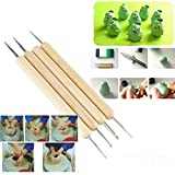 dipshop 4Pcs Stylus Polymer Clay Pottery Ceramics Sculpting Modeling Tools