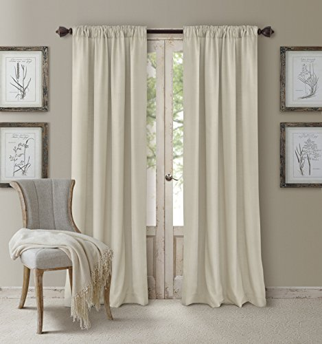 - Elrene Home Fashions 26865545920 3-in-1 Blackout Energy Efficient Lined Rod Pocket Window Curtain Drape Panel, 52