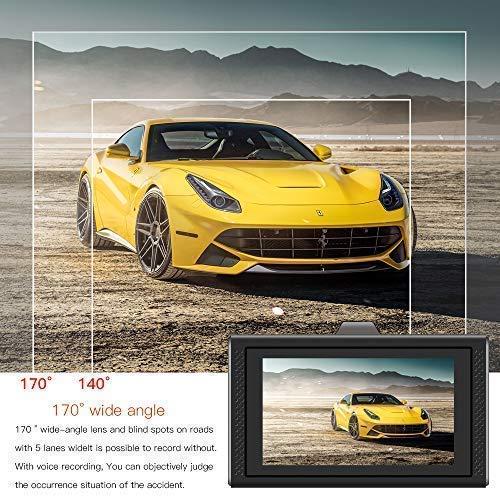 G-Sensor Dash Camera,Car Dash Cam 1080P FHD DVR Car Driving Recorder 3 LCD Screen 170/°Wide Angle Loop Recording Motion Detection,Zinc Alloy Materials SVI SIV-M9 Parking Monitor WDR