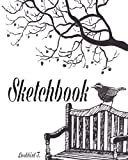 "Sketchbook: Bird and tree card :  120 Pages of 8"" x 10"" Blank Paper for Drawing, Doodling or Sketching (Sketchbooks)"