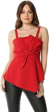 Roman Originals Women/'s Black Bow Front Detail Dress Sizes 10-20