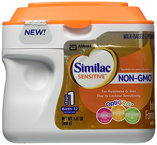 Similac Sensitive Non-GMO Infant Formula, ReadyPac Tub, Powder, 22.6 Ounces