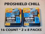 Gillette Proshield Chill - 16 Count ( 2 x 8 Packs)