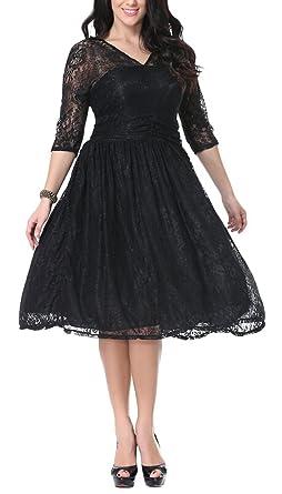 Kleid a linie knielang langarm