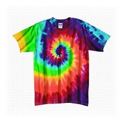 Tie Dye Mania Youth Retro Rainbow Swirl Tie-Dye Short Sleeve T - Large