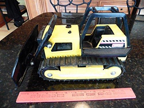 "Tonka toy Bulldozer Press Steel & Plastic yellow 12"""
