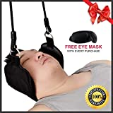Premium Portable and Comfortable Neck Hammock Cervical Traction Device, 10 Minutes Instant Pain