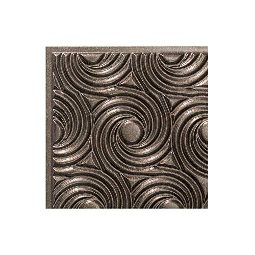 - FASÄDE Easy Installation Cyclone Smoked Pewter Glue Up Ceiling Tile/Ceiling Panel (12X12 Inch Sample)