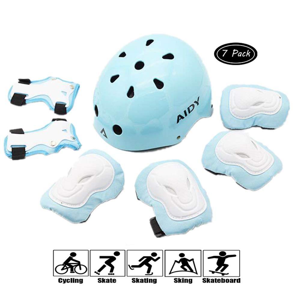 GYL-JL Blue Kid's Protective Gear Set Skateboarding Cycling