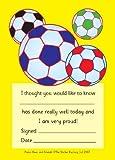 A6 Praise pad: footballs: 50 general reward notes