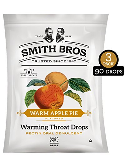 Sore Throat Lozenges with Pectin by Smith Brothers (Warming Apple Pie, 90 Count): Vintage Candy Throat Drops - The Original American Cough Drop ()