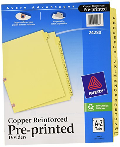 Avery Reinforced Preprinted Dividers 24280