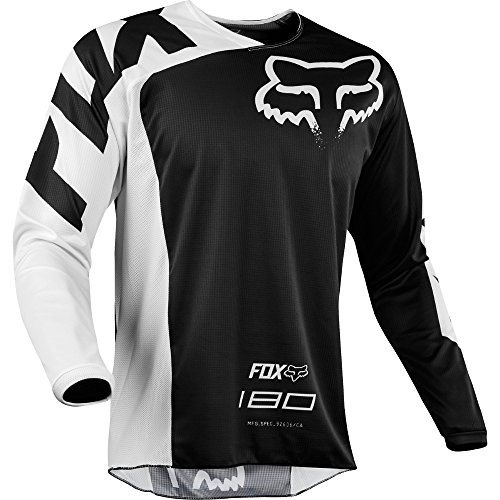 Fox Racing 180 Race Men's Off-Road Jersey - Black / Large (Accessories Mens Riding Gear)