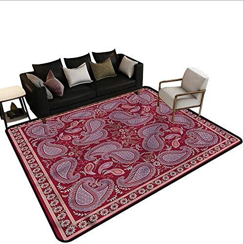 Burgundy,Thin Non-Slip Kitchen Bathroom Carpet 60
