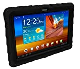 Samsung Galaxy Tab 2 (does not fit LITE) 10 inch (2012) Drop Tech Black Gumdrop Cases Silicone Rugged Shock Absorbing Protective Dual Layer Cover Case