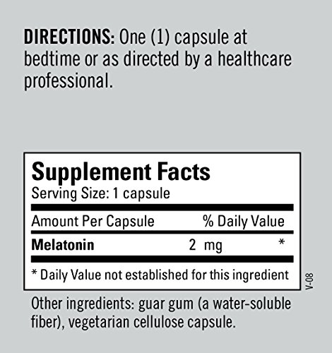 Metabolic Maintenance - Melatonin - 2 mg, Timed Release Supports Restful Sleep + Nerve Health, 180 Capsules by Metabolic Maintenance (Image #5)