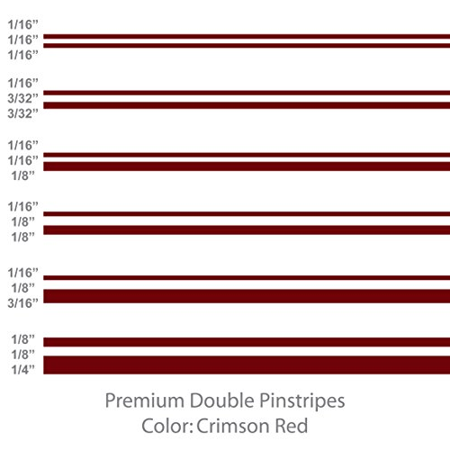 Premium Double Pinstripes (Crimson Red) 1/8