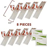 E-Z Pass/I-Pass/SunPass Adhesive Mounting Strips 8-Strips, (4 Sets) 2 Inch Reclosable Fastener Strips with 2 Alcohol Prep Pads by True Decor