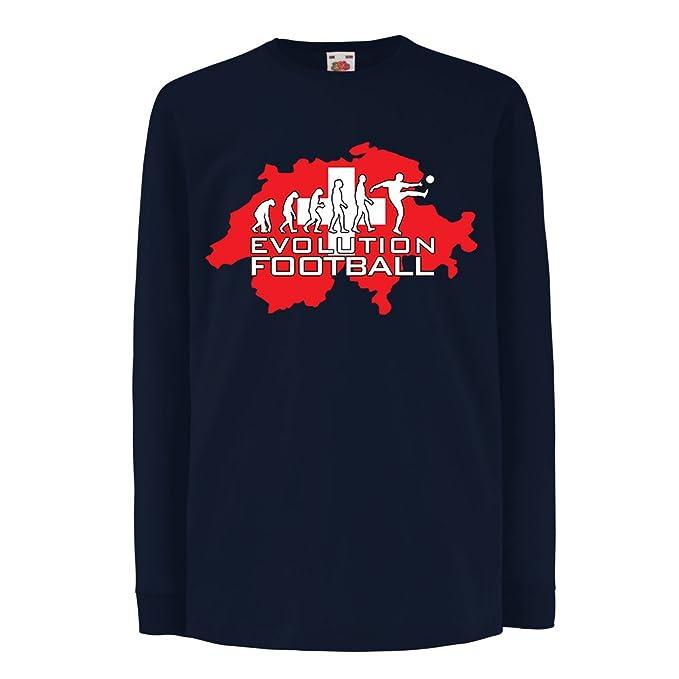 Niños Niñas Camiseta La Evolución del Equipo Nacional de Fútbol de Suiza fac26b140dfb8