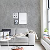 Cement Concrete Wallpaper - Dark Grey - 2 ft x 9 ft - 6pk - by Simple Shapes