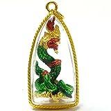 Mini Thai Amulet Statue Serpent Great Naga Talisman Pendant Sacred Buddha Charm Magic