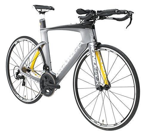 Diamondback Bicycles Serios S Ready Ride Complete Carbon Triathlon/Time Trial Bike, 50/X-Small, Silver