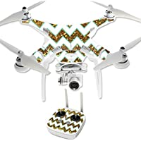 Skin For DJI Phantom 3 Professional – Glitzy Chevron | MightySkins Protective, Durable, and Unique Vinyl Decal wrap cover | Easy To Apply, Remove, and Change Styles | Made in the USA