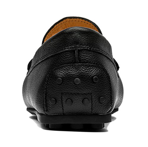Opp Mænds Klassiske Mode Slip-on Køre Afslappet Dagdriver Sko Hyttesko I Glat Læder 2016 Kollektion Blå Khs8sOrH