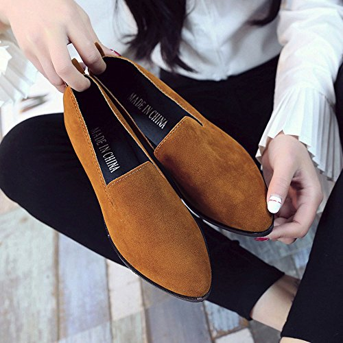 Loafer Fashion Solid Sexy Brown Women Flat Shoes Slip Casual Sandals On Women WINWINTOM Sandals Ladies OaWwxF7pwq