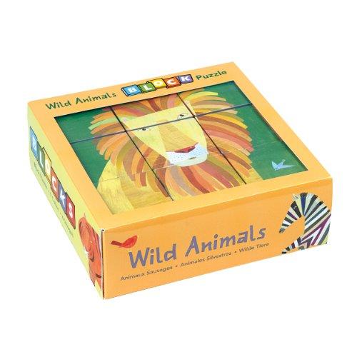 Mudpuppy Wild Animals Block Puzzle