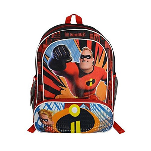 daa3fc91f02 Disney Pixar The Incredibles 2 Movie Dash and Mr. Incredible Book Bag for  Back to School - 16 Inches