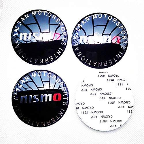 Ycsm 65mm NISMO Car Emblem Badge Sticker Wheel Hub Caps Center Cover Badge Sticker Apply to for Nissan 4pcs