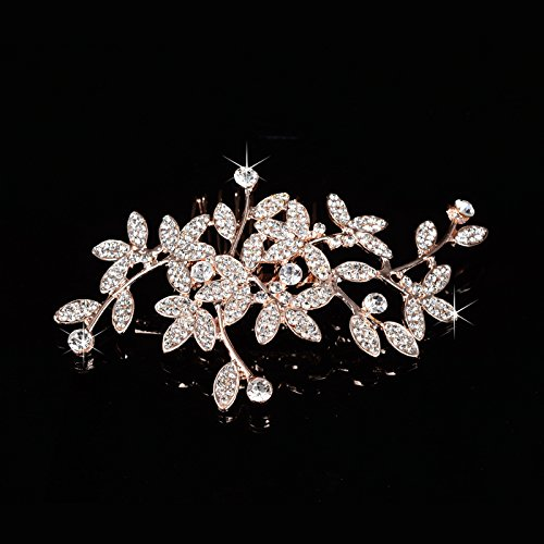 usongs Korean bridal headdress flower diamond luxury diamond pearl hair plug comb hair accessories wedding bridesmaid accessories by usongs (Image #1)