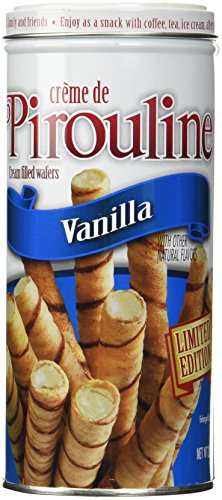 Cookie Filled Wafer - Creme De Pirouline Vanilla Cream-filled Wafers Limited Edition 3.25 Oz (2 Tin Pack)