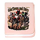 Royal Lion Baby Blanket Gitn' Down and Dirty Dirt Bikes - Petal Pink