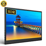 UPERFECT 13.3-inch Computer Monitor Portable Game Display 1920×1080 HDR LED Screen IPS Dual Speakers Low Blue Light Freesync VESA Compatible with Mini HDMI Type-C for Xbox One PS4 Nintendo PC Win MAC