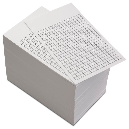 Levenger 300 Non-Personalized 3x5 Cards - White Grid (ADS10175 GD) by Levenger