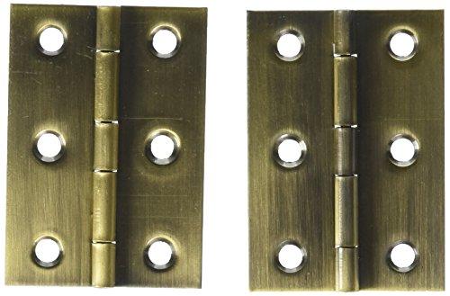 NATIONAL/SPECTRUM BRANDS HHI N211-409 2-1/2-Inch Brass Hinge, 2-Pack