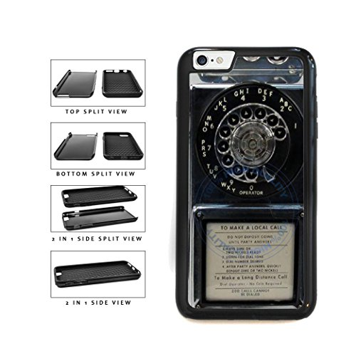 BleuReign(TM) Detailed Rotary Phone 2-Piece Dual Layer Phone Case Back Cover For Apple iPhone 6 6s (4.7 Inches - Detailed Textured Dials
