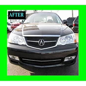 1999 2003 acura tl chrome grille grill kit 2000 2001 2002 99 00 01 02 03 3 2 type s. Black Bedroom Furniture Sets. Home Design Ideas