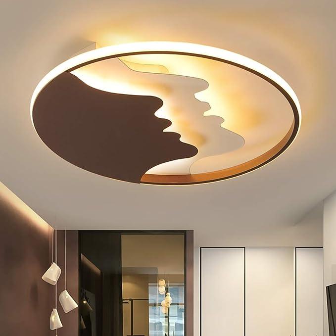 Moderno LED Lámpara de techo Ø50cm 51W Blanco negro Creativo ...