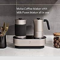 Jianyue 1 Set Moka Coffee Maker Espresso Maker Automatic Foam Maker Creamer hot Cold Milk Steamer All in one Maker