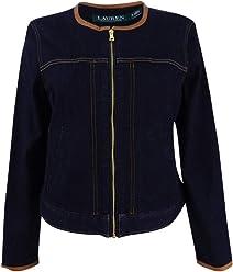 Lauren by Ralph Lauren Womens Medium Denim Jacket