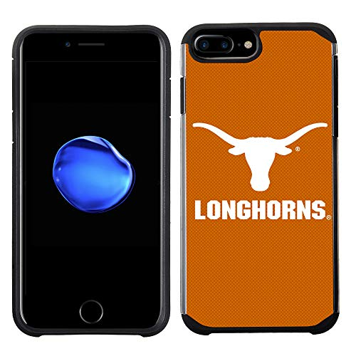 (Prime Brands Group Textured Team Color Cell Phone Case for Apple iPhone 8 Plus/7 Plus/6S Plus/6 Plus - NCAA Licensed University of Texas Longhorns at Austin)