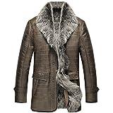 Mens Shearling Jacket Fur Jacket Turkey Tuscany Wool Champagne Business...