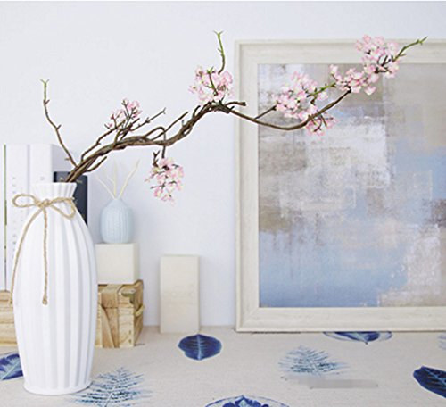 Japanese Arrangement Flower - Skyseen 3PCS Artificial Cherry Blossom Branches Sakura Flowers Arrangements for Home Wedding Decoration,Pink