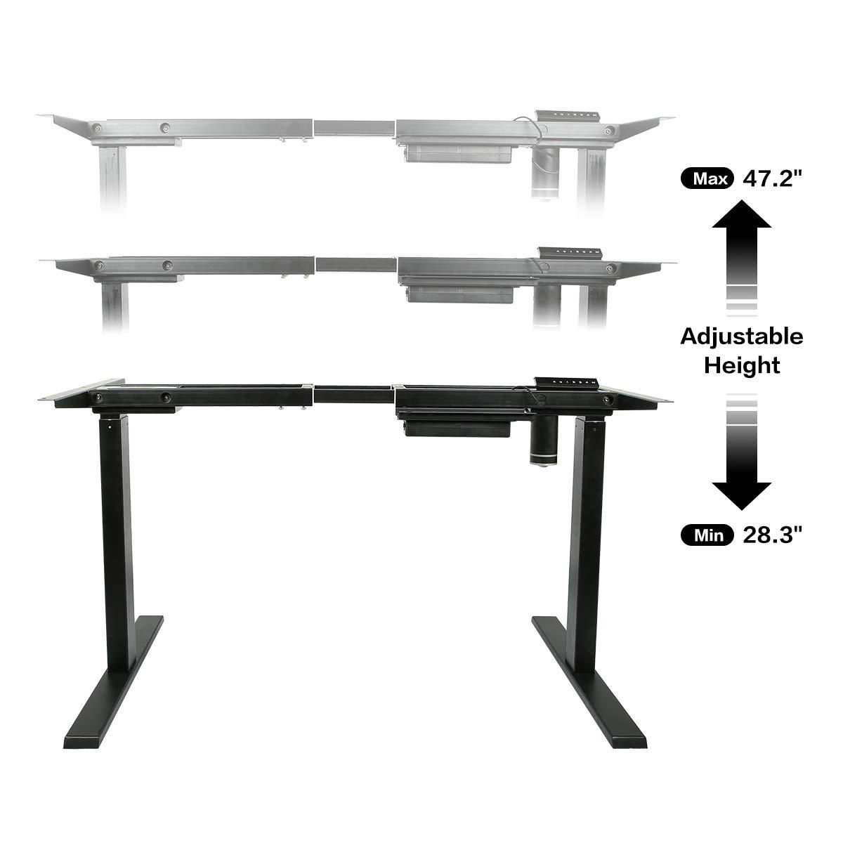 AECOJOY Electric Stand Up Desk Frame, Height Adjustable Standing Base Single Motor DIY Workstation with Memory Controller by AECOJOY