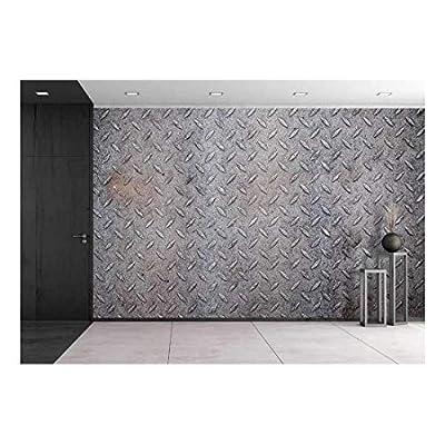 Dirty Metal Diamond Pattern Texture Wall Decor - Wall Murals